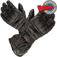 Tuzo TZG5 Motorcycle Motorbike Gloves Waterproof Thermal Black Leather