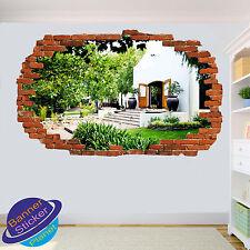 Vineyard Villa Giardino 3D Adesivo Parete rotte ART Room Decor Decalcomania Murale ZP6