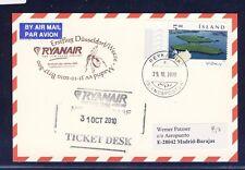 44408) Irland Ryanair FF DD/Weeze - Madrid 31.10.10, feeder mail Island card