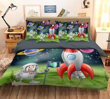 3D Cartoon Planet 52 Bed Pillowcases Quilt Duvet Cover Set Single Queen King Au