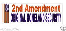 2nd Amendment Homeland Security Bumper Sticker or Helmet Sticker D379 Guns