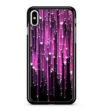 Purple Rain Shiny Stars Matrix Colourful Cool Pattern 2D Phone Case Cover
