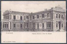 RAVENNA FAENZA 15 FABBRICA MAIOLICHE d'ARTE Flli MINARDI Cartolina viagg. 1904
