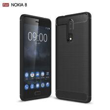 Nokia 8 Case, Slim Armor Shockproof TPU Brushed Heavy Duty Cover Nokia 8 Sirocco