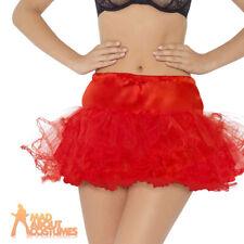 Red Tulle Petticoat Fancy Dress Devil Halloweem Ballet Tutu Pettiskirt Accessory
