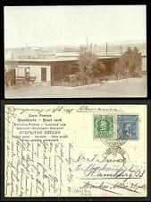 Iquique rppc Building Tarapaca Chile 2 stamps 1908