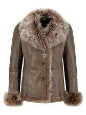Ladies Spanish Toscana Sheepskin Camel Natural Genuine Designer Winters Jacket