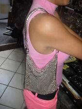 borsa gioiello 22x16 cm con manico gioiello  maglia usata da stilisti famosi bag