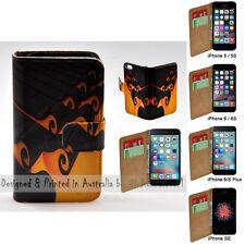 For iPhone X 8 8 Plus - 3D Wave Print Flip Wallet Phone Case Cover