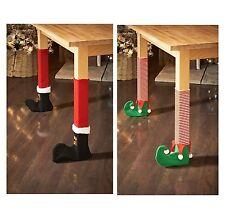 Cubiertas de tabla silla Elfo Santa Navidad Decoración de mesa novedad de la pierna