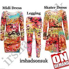 Enfants filles nouvelle saison rouge graffiti imprimer robe patineuse midi legging top t shirt