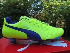 102954 PUMA evoPOWER 4 Sg Amarillo Azul 8 -12 Para hombre Botas De Fútbol UK Tornillo en