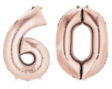 doré rose 60 ans hélium géant Ballon PLAT CHIFFRES 60th Fête d'anniversaire