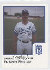 1986 ProCards Fort Myers Royals #DUGU Duane Gustavson Rookie Baseball Card