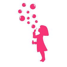 * 1 Sticker  Petite Fille aux Bulles  *