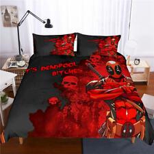 3D Hot Blood Deadpool Printed Duvet Cover Bedding Set Quilt Cover Pillowcases
