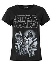 T-shirt en coton noir de Star Wars Classic pour fille, taille 4 à 12 ans