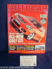 AUTOCAR Magazine 14th November 2001 Golf GTi