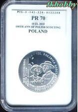 Poland 2010 silver 10 zl Harcerstwo Polish Scouting PR70