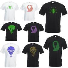 Unisex T-Shirt Short Sleeve Ganja Light Bulb Dollar Head Marijuana Weed Rasta
