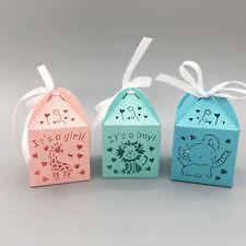 baby shower favour box it's Girl/ It's a boy Giraffe Lion Elephant Gift box 10pc