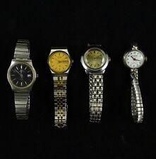 Vintage LADIES Wrist WATCH SEIKO S3 Bucherer TIMEX Clinton QUARTZ Lot TWO TONE