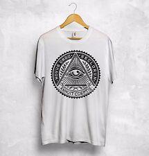 Illuminati Eye Symbol T Shirt Annuit Coeptis Reptilians Bilderberg NWO Dollar $