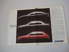advertising Pubblicità 1990 MAZDA 323 F/BERLINA/3 PORTE