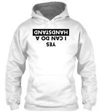 Yes, I Can Do A Handstand - Dnatsdnah Od Nac Sey Gildan Hoodie Sweatshirt