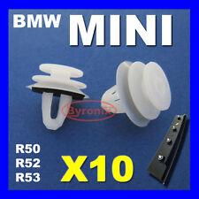 Mini un pilar Trim Clips Sujetadores uno S Cooper R50 R52 R53 Exterior-Esquina