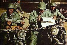WW2 - France 1940 - Motocyclistes allemands