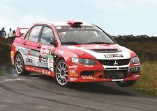 138522 WRC RALLY CAR MITSUBISHI EVO EVOLUTION Wall Print Poster CA