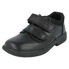 enfant garçon en cuir Clarks Double riptape décontracté chic chaussures d'école