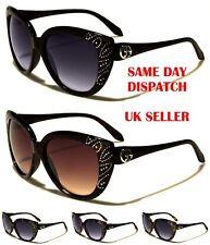 Giselle Occhiali Cat Eye occhiali da sole donne strass 100% UV400 22059