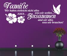 Wandtattoo Spruch , Familie haben zusammen Sticker Wandaufkleber Wandsticker 3