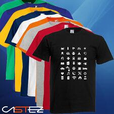 Camiseta  iconos viajero viaje iconspeak travel icon regalo ENVIO 24/48h