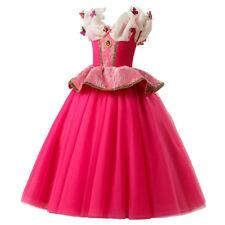 Girls Sleeping Beauty Princess Aurora Party Dress kids Costume Dress ZG8