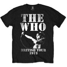 The Who Live Tour 1973 Roger Daltrey Rock Licensed Tee T-Shirt Men