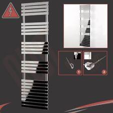 "500mm (W) x 1742mm (H) ""Solar"" Chrome Designer ELETTRICI-BINARIO CALORIFERO 600w"