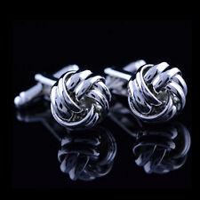 Stainless Steel Cufflinks Vintage Knot Twist Cuff Links Men's Wedding Gift GT