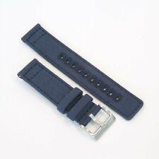 Canvas Premium Watch Strap Band Quick Release 20mm 22mm Navy Blue