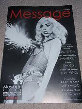 LADY GAGA Japanese magazine interview calendar 01/2011 NEW Kobe Message promo