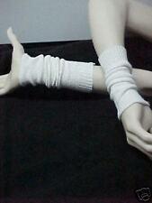 RIB KNIT CUFF WHITE ARM WARMER COTTON BLEND9 IN LENGTH