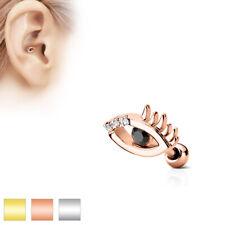 Piercing al Trago 6 mm - Occhio Malvagio allsehendes OCCHIO SPINA Helix Zirconia