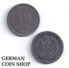 GERMANY 10 Pfennig 1916-1922 FERRO A D E F G J-per favore seleziona/Please Select