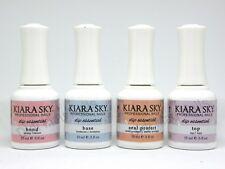 Kiara Sky Dipping Powder Essentials Kit Steps 1-4 (Dip Bond,Base,Seal,Top )0.5oz