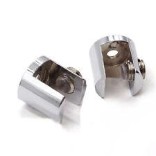 1/2/4X Glass Shelf Support Clamp Brackets Clip Polished Chrome Shelves 6mm-12mm