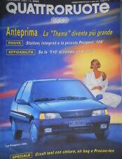 Quattroruote 433 1991 Cambiamenti della Thema.Nuova Peugeot 106