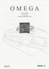 OPEL Omega listino prezzi 12.7.99 1999 price list AUTO AUTOMOBILI AUTO LISTINO PREZZI