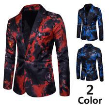 2 Color Men's Formal Wedding Bridegroom Suit One Button Slim Fit Business Coats